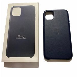 Midnight Blue Leather iPhone 11 case